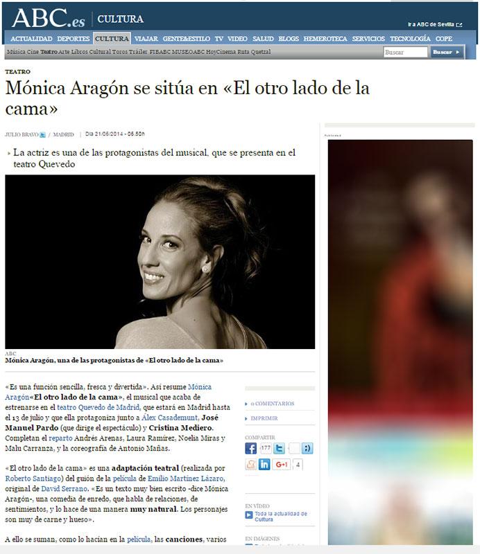 Mónca Aragón en ABC.es