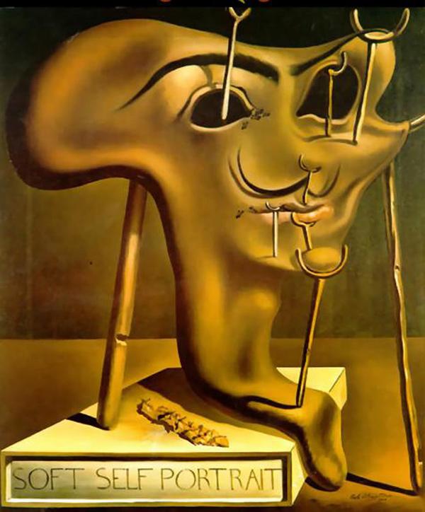 Salvador Dalí - Autorretrato Blando con Bacon Frito (1941)