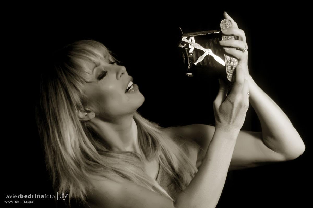 Miriam Diaz-Aroca fotografiando