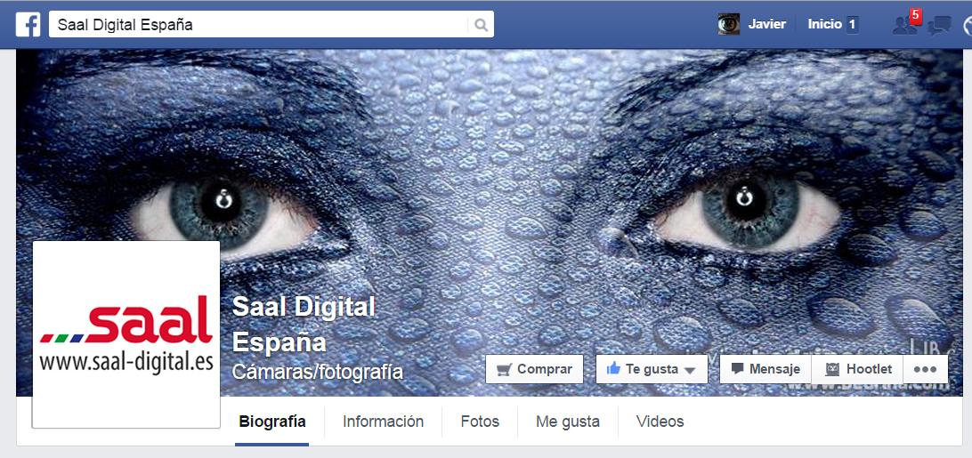 Pagina de Facebook de Saal Digital