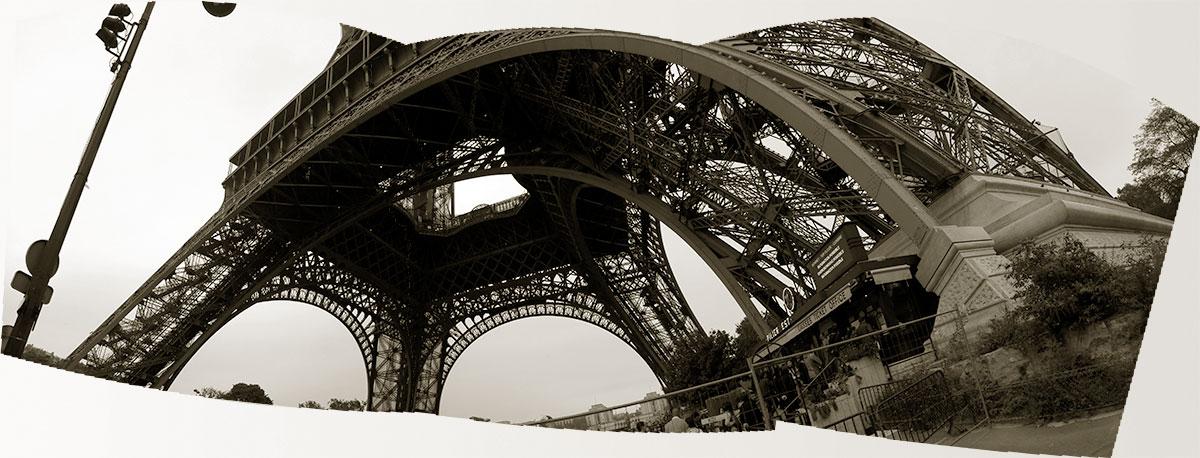 Panorama de la parte de la Torre Eiffel - Paris