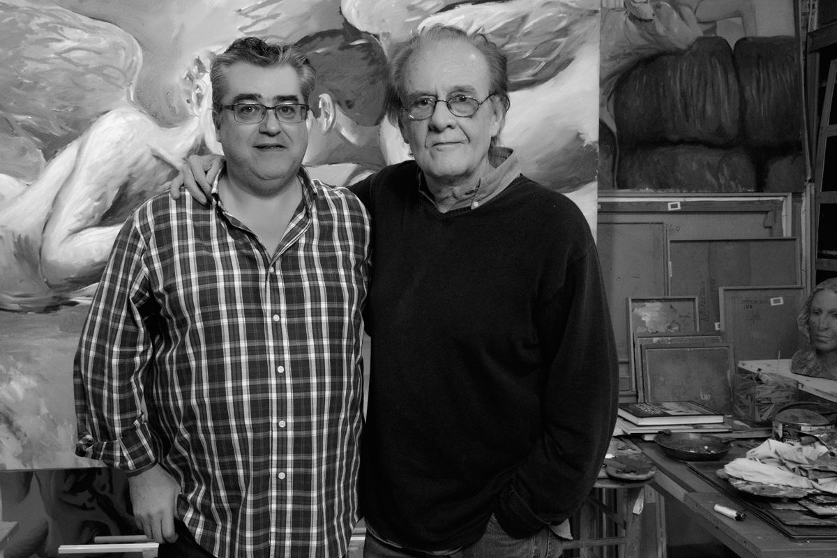 Luis Eduardo Aute con Javier Bedrina