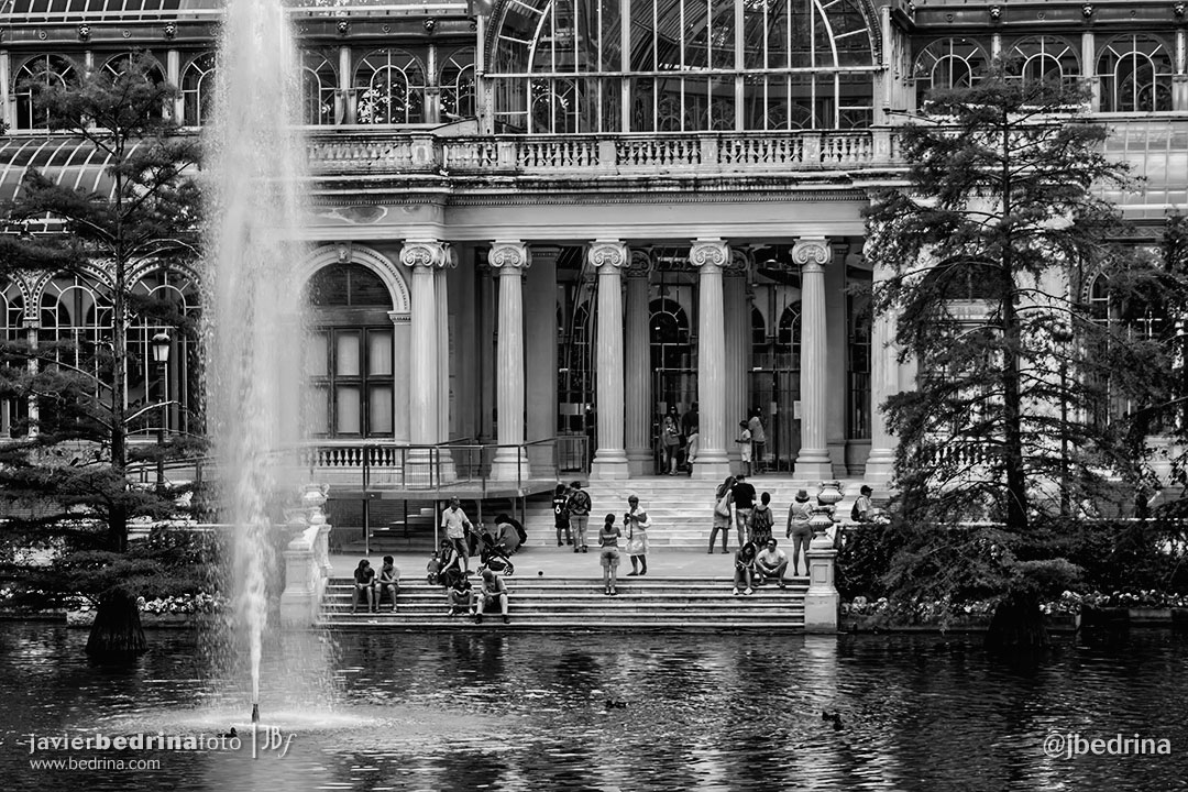 Fuente y Palacio de Cristal (El Retiro)