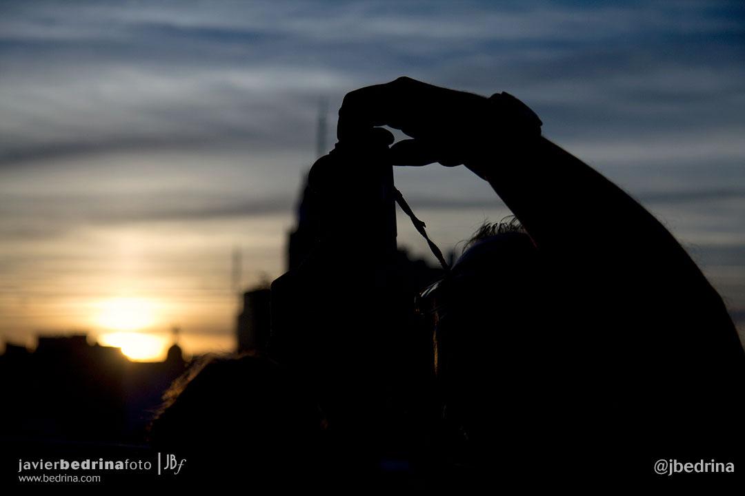 Fotografiando el Ocaso desde la Azotea del Círculo de Bellas Artes