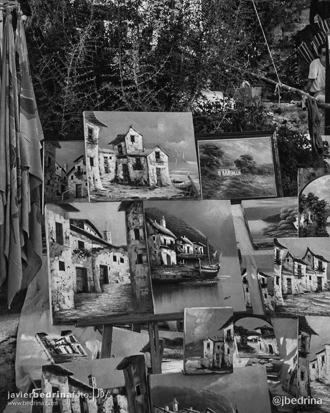 Pinturas en el Mercado de San Miguel.