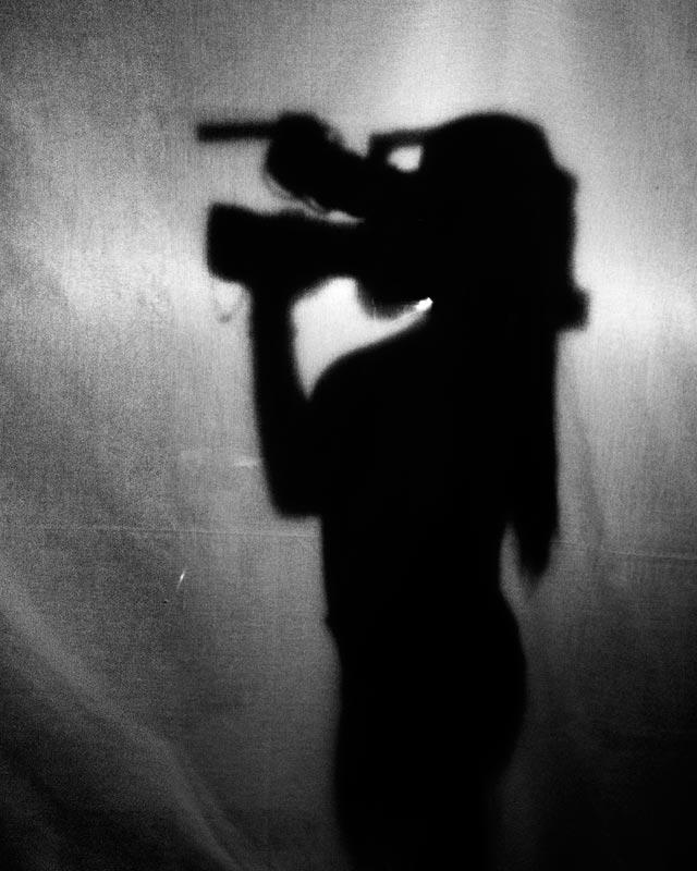 Siluetas con cámara de vídeo