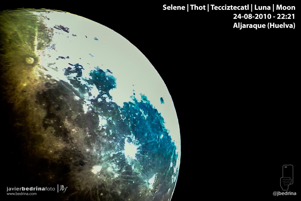Luna con telescopio en Huelva
